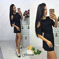 Женское летнее платье из мягкой вискозы черное