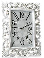 Часы настенные большие белые Ажур