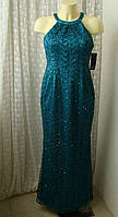 Платье вечернее бирюзовое Adrianna Papell р.42-44 7585