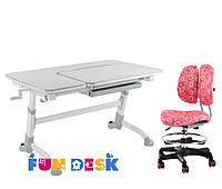 Парта для подростка FunDesk Amare Grey + Детское кресло SST6