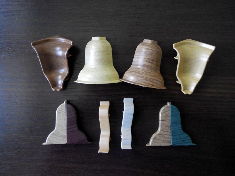 Комплектующие к плинтусу  угол внутренний и угол наружный с доставкой по Украине