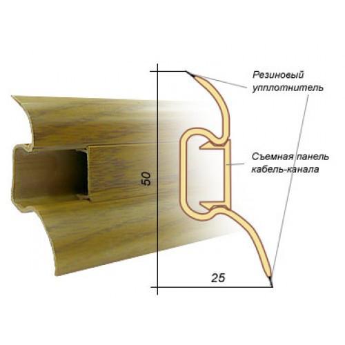 Плинтус под проводку с резиновым краем