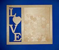 Рамка для пожеланий LOVE заготовка для декора
