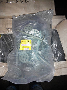 Дюбель зонтк 10х70 для крепления термоизоляции с пластиковым гвоздём