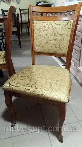 Стул деревянный Карло светлый орех, мягкие спинка и сиденье, фото 2