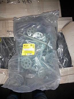 Дюбель 10х200 для крепления пенопласта с пластиковым гвоздём