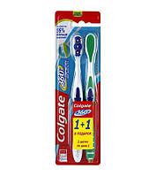 Зубна щітка COLGATE 360 Clean (середня) 1 + 1 безкоштовно