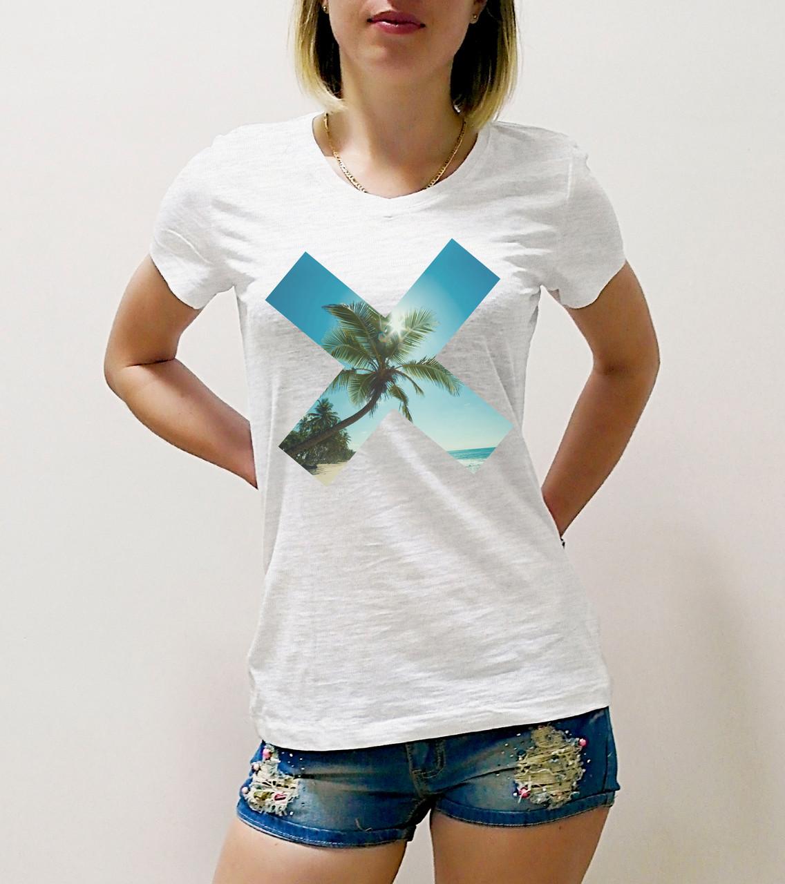 "Женская футболка ""Х"""