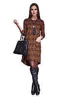 Платье женское GIOIA со складой коричневое