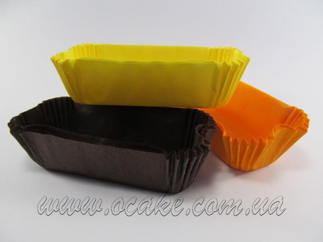 Бумажная форма для эклеров 10*3 см (желтый цвет)