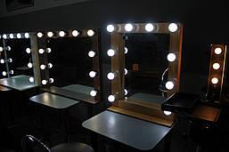 Деревянное макияжное зеркало, фото 3