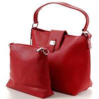 Сумка женская кожаная G&T Н8260 red+сумка в подарок