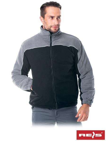 Куртка двухцветная утеплённая из полара высокого качества POL-POLAREX4 BS