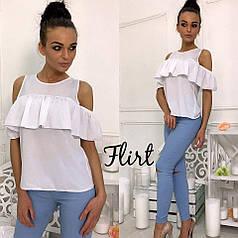 Оригинальная блуза с воланом
