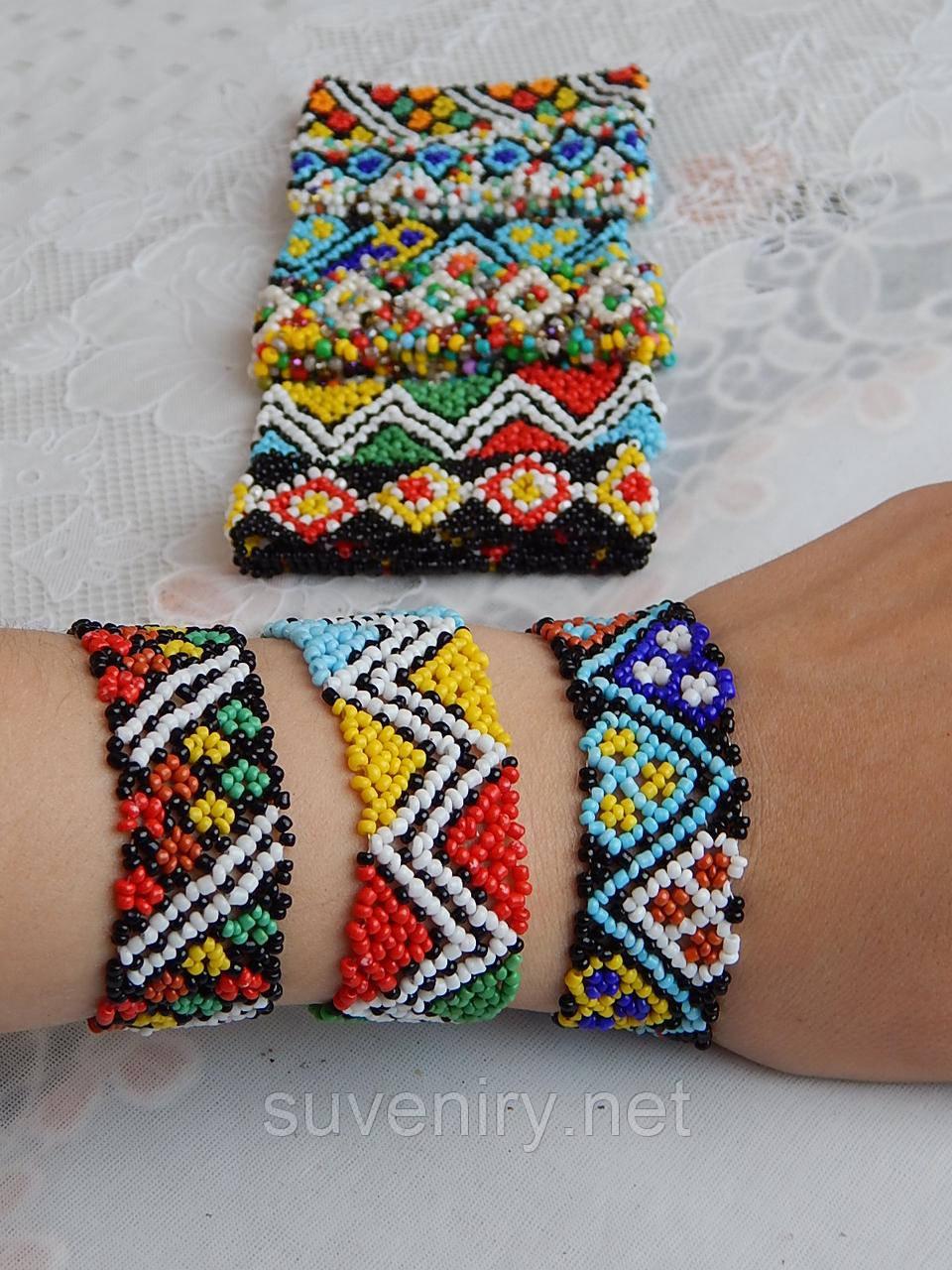 Браслет на руку из бисера украинская вышивка