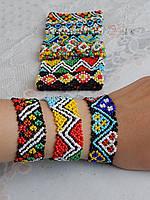 Браслет на руку из бисера украинская вышивка, фото 1