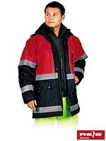 Куртка зимняя со светоотражающими полосками BLUE-RED GC