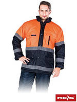 Куртка зимняя со светоотражающими полосками BLUE-ORANGE GP
