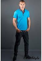 Мужская футболка Принт синий