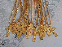 Цепочка с крестом на шею под золото, фото 1