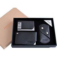 Подарочный набор визитница (мет)/ключница/визитница (кожа) (3041)