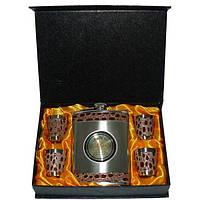 Комплектация: фляга из нержавеющей стали (270 мл); 4 стопки; мини-лейка (воронка) яркая оригинальная упаковка