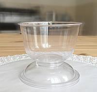 Креманка ДЖЕЛАТО прозора з кришкою, 120 мл. ( d-7,5см, h-7,0см) 1/500