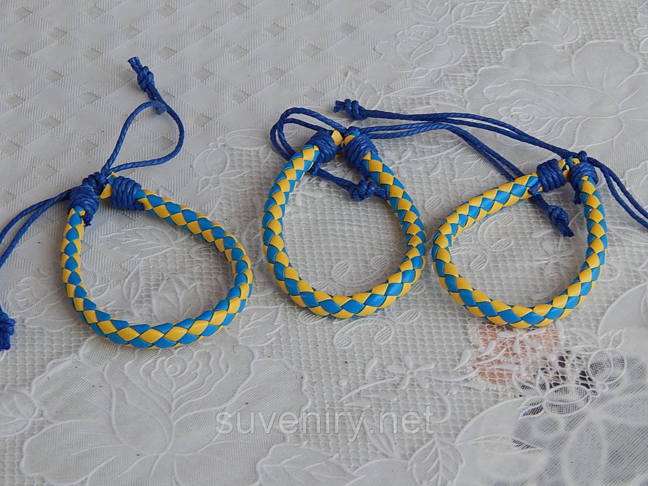 Кожаный браслет на руку плетенка