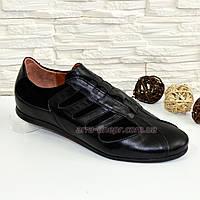 """Мужские кожаные кроссовки черного цвета от производителя ТМ """"Maestro"""", фото 1"""