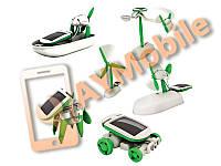 Комплект 6 в 1 игрушка конструктор на солнечной батарее