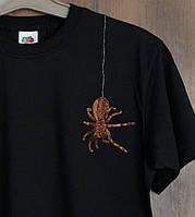Дизайнерская футболка Паучок Черная