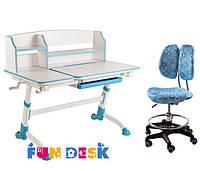 Подростковая парта для школы FunDesk Amare II Blue + Детский стул SST6 Blue