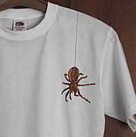 Дизайнерская футболка Паучок Белая