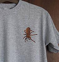 Дизайнерская футболка Паучок Серая