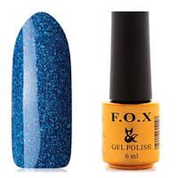 Гель-лак F.O.X  6 мл pigment №121 (синий с серебряным глиттером)