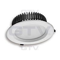 Светильник встраиваемый GTV Lumier LED 13Вт 930Лм с нейтральным светом, алюминий