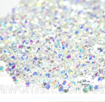 Конусные кристаллы Crystal Pixie хамелеон 1,3 мм 1440 штук