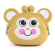 Резиновый детский кошелек обезьянка art. желтый (101001)