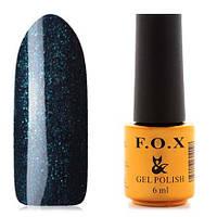 Гель-лак F.O.X  6 мл pigment №125 (темно-синий с зелеными блестками)