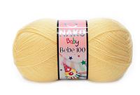 """Пряжа Nako Bebe 100 """"215"""" Детская для Ручного Вязания"""