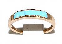 Кольцо на фалангу, фирмы Xuping.Цвет: позолота .Вставка: голубая эмаль.  Есть с 12 по 15 размер.