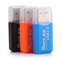 Картридер USB Micro SD C1-C4 (цвета в ассортименте)!Акция