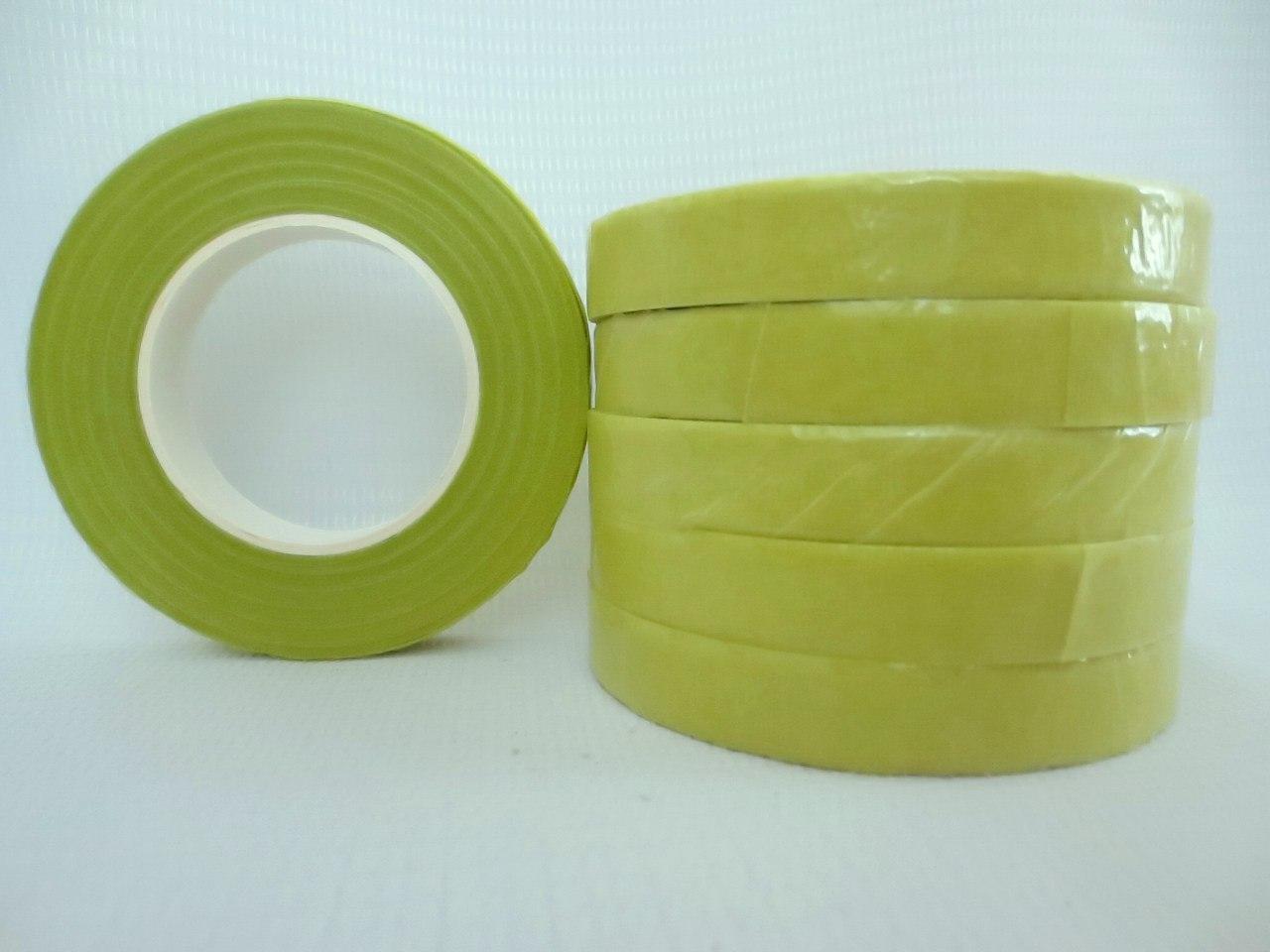 Тейп лента светлая оливка (флористическая лента) 12 мм