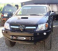 Передний бампер с монтажной плитой под пластиной для Toyota Hilux 2006-2011