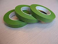 Тейп лента светло зелёная (флористическая лента) 12 мм