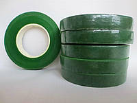 Тейп лента тёмно зелёная (флористическая лента) 12 мм - 27 метров