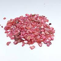 Дробленый камень полированный. Розовый.
