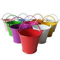 Декоративное цветное ведерко 6см, фото 3