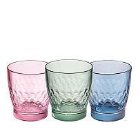 Набор разноцветных стаканов Libbey Olympea Smooth 350 мл.