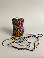 Цветная нить 100 м, декоративный шнур для упаковки, красный желтый и синий